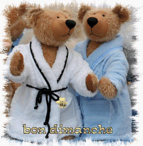 """Couple De Nounours """" Bon Dimanche """""""