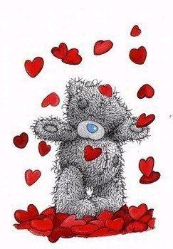 Nounours Distribue Des Coeurs
