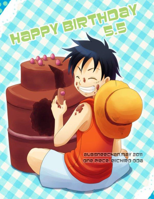 Bon anniversaire à notre futur roi des pirates préféré j'ai nommé...Luffy ! *^*
