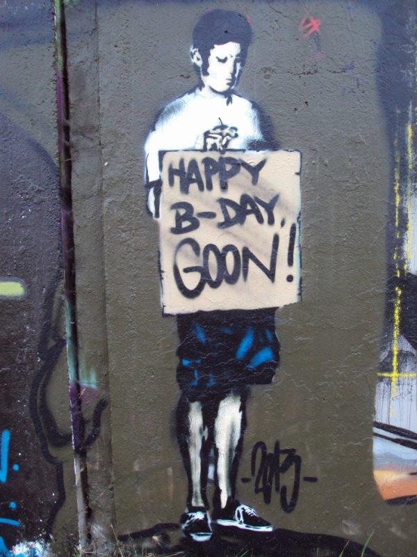 HAPPY B-DAY GOON !