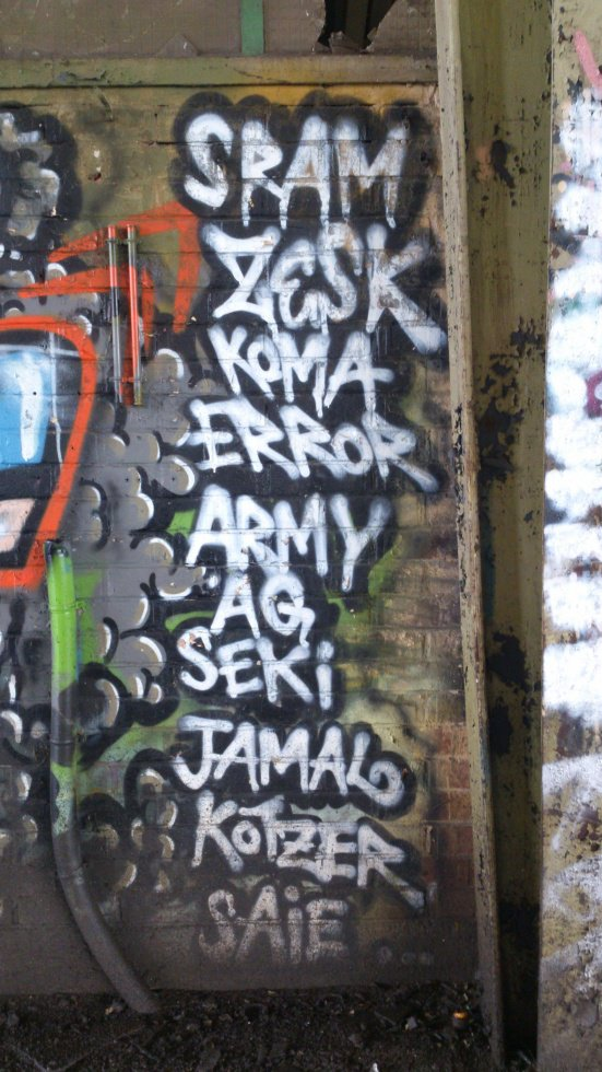 SRAM ZESK KOMA ERROR ARMY AG SEKI JAMAL KOTZER SAIE