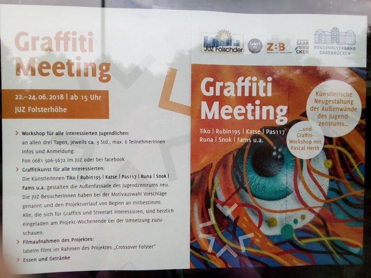 Graffiti Meeting 22, 23, 24 juin 2018 JUZ Folsterhöhe