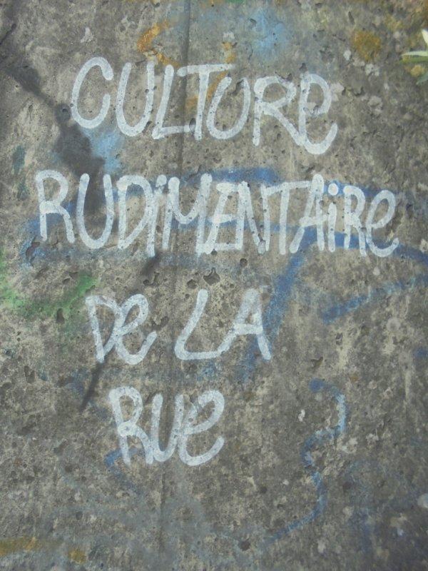 CULTURE RUDIMENTAIRE DE LA RUE