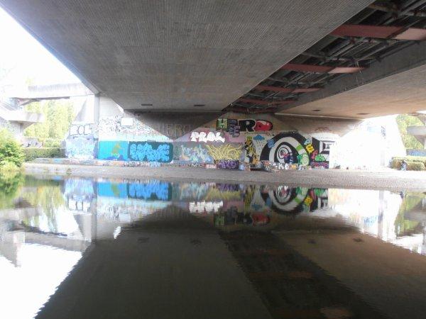 Westspange Brückenpfeiler Bürgerpark / Teich