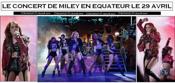 Quelques rattrapage sur la belle Miley