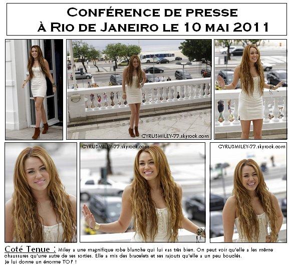 Miley en Amérique du Sud pour sa tournée