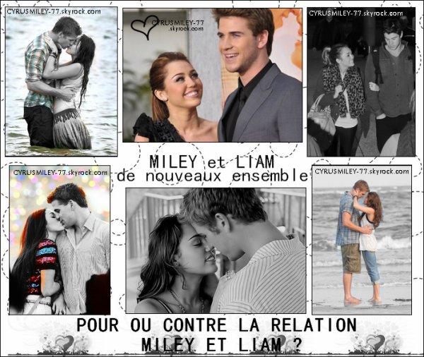 Miley et Liam forment désormais un couple :)