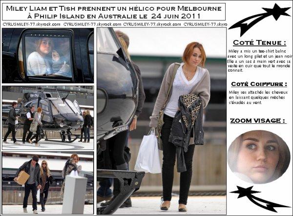 Miley, Liam et Tish le 24 juin - TOP ou FLOP ?