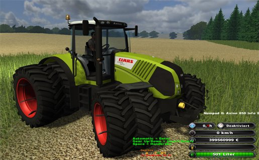Mod CLAAS Axion v3.1 (Gearbox)