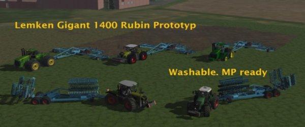 Mod Lemken Gigant 1400 Rubin Prototyp
