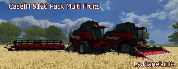 Mod CaseIH 9120 Pack Multi Fruits With Extra Heads