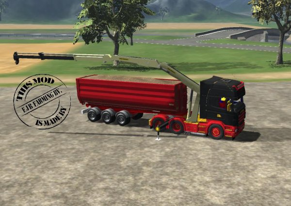 Mod Scania R620 V8 + HKL trailer long