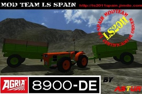 Mod Agria 8900-DE + Trailer Pack