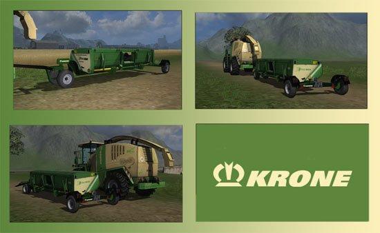 Mod Trailer For Krone X Disc Header