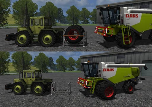 Mod Claas Lexion 750 with byable Twinwheels