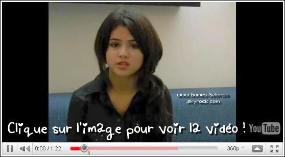 * Selena a enregistré message au nom de l'UNICEF , pour les enfants victimes de la catastrophe à Haïti.   *