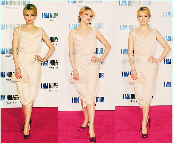 """▬ Mercredi 09 Février 2011.  Dianna étais à la première de """" I Am Number Four """" à Los Angeles. Top/Flop?"""