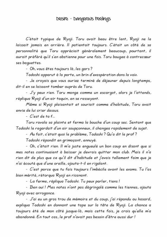 Désire- roman yaoi- n.1