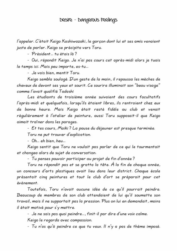 Désire- roman yaoi- n.2