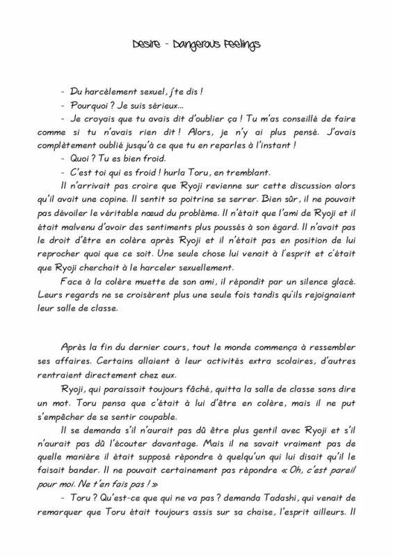 Désire- roman yaoi- n.3