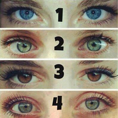 Quelle couleur son vos yeux