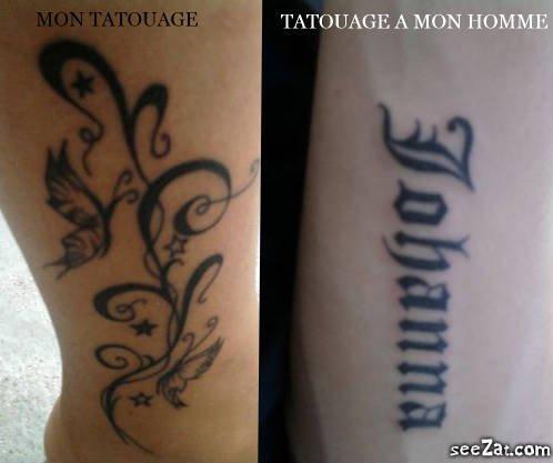 Mon tatouage et celui de mon Homme