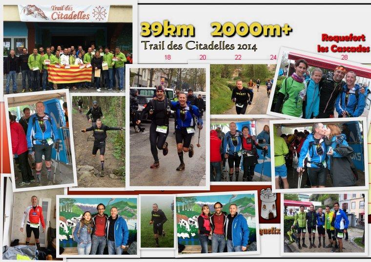 Trail des Citadelles , Lavelanet (Ariège), Dimanche 20 avril 2014