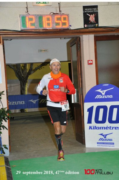 100 Km de Millau, 47e édition, 29 septembre 2018