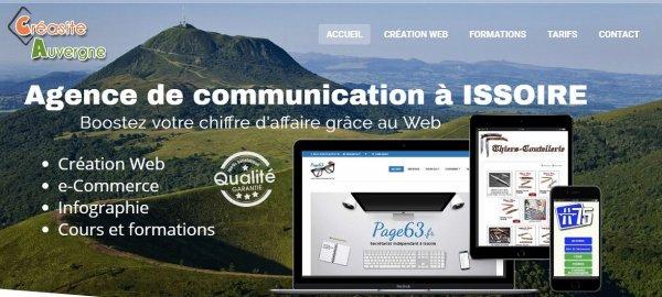 Création de site Web et formations Informatique à Issoire