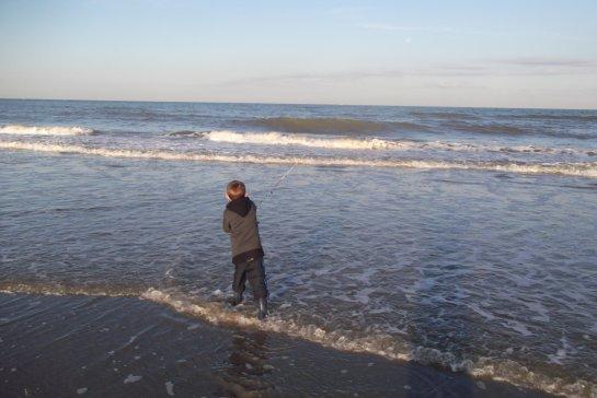 sur la plage du portel