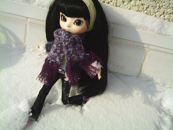 premiere sortie et premiere neige de Gabriella