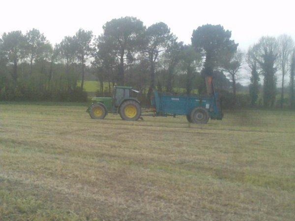 epandage fumier 2011 pour terre à maiis