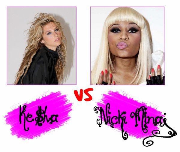 Kesha VS Nicki Minaj