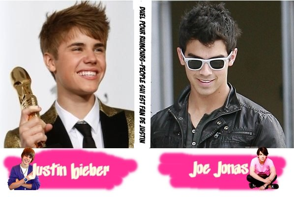 Justin Bieber VS Joe Jonas