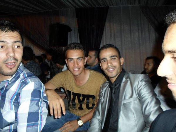 avec mon ami mohamed au mariage