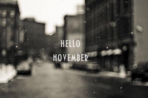 Hello November ♪.