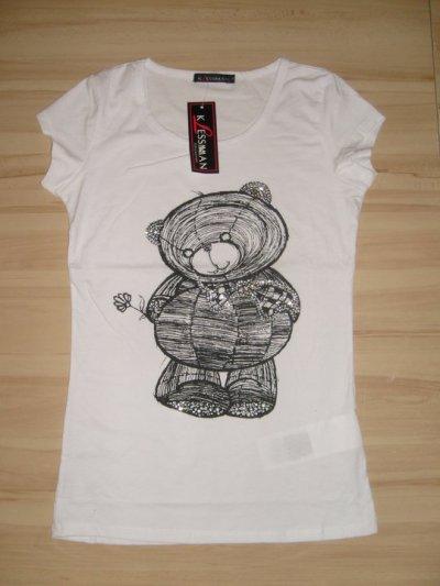 Tee-shirt femme motif nounours