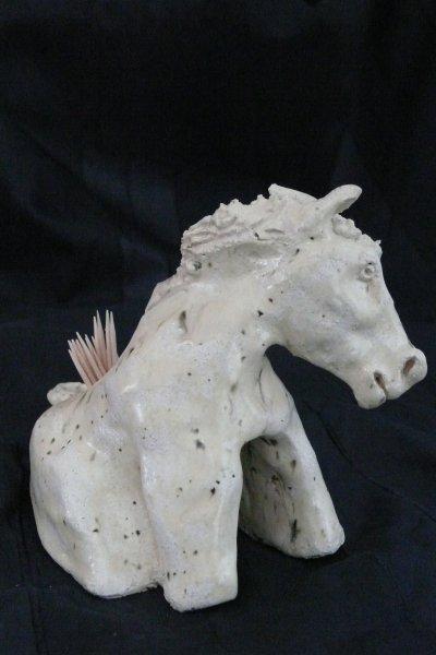 cheval hauteur environ 100_ porte pics