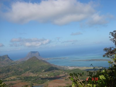 Vue du Piton de la Riviere Noire,montagne la plus haute de l'Ile Maurice