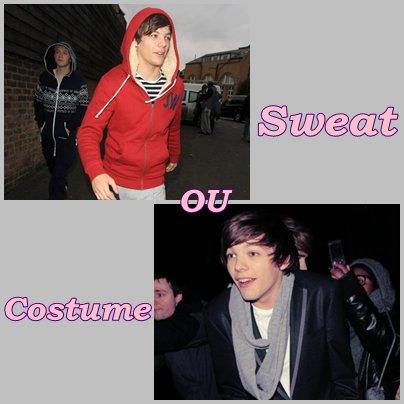 Tu préfère Louis en Sweat ou en Costume ?