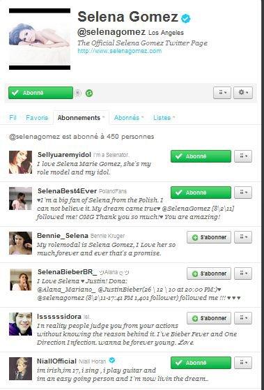 Notre Sorcière préférée suit Niall sur Twitter :