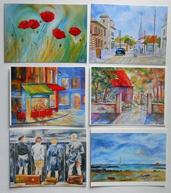 """Cartes postales des """"Tableaux d'Axelle BOSLER"""""""