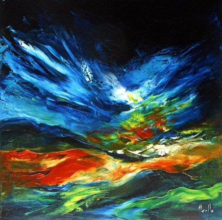 Tableau lumières d'automne #peintures-axelle-bosler