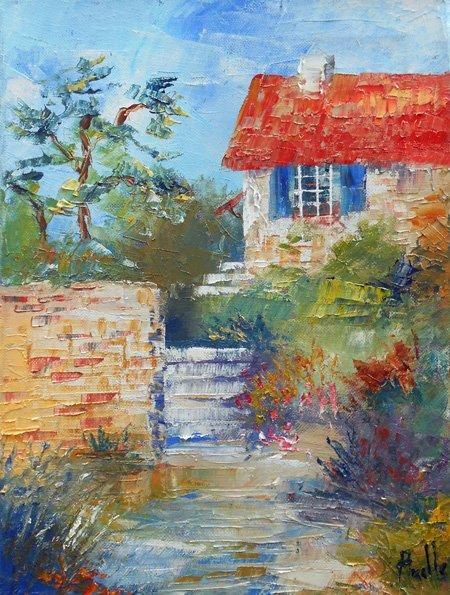 Tableau Le jardin aux escaliers