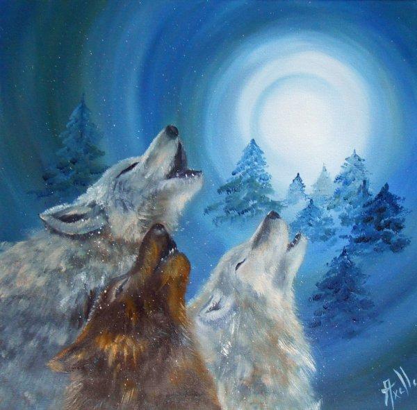 """Tableaux """"L'appel des loups dans la nuit"""""""