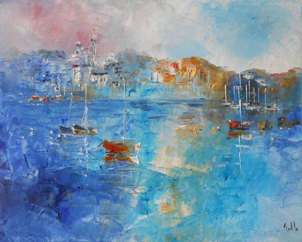 "Tableau paysage marin ""Marseille - Notre Dame de La Garde"""