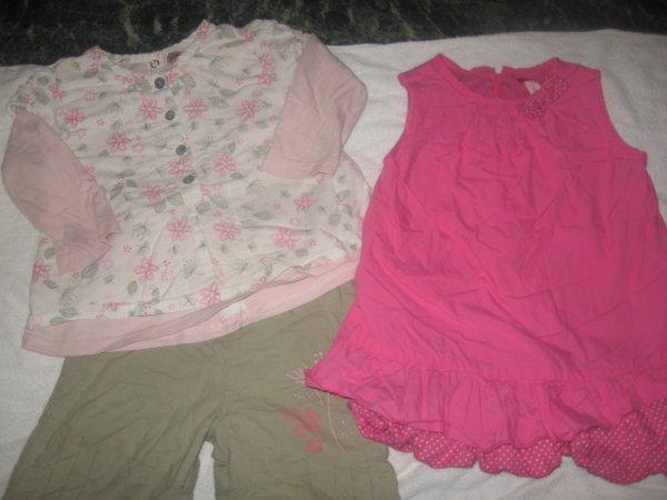robe boule + ensemble 12 mois 1.50 euro