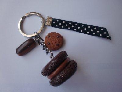 porte clef chocolat fimo (5¤)