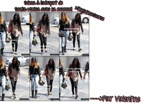Selena à l'aéroport de Santa-Monica.