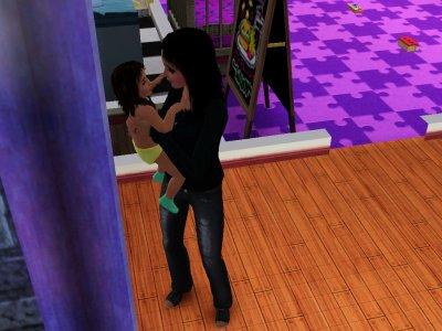 Fergie(la mere) et Linoa(le 3 enfant)